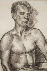 Charcoal Academic Study of  Male Nude image 4
