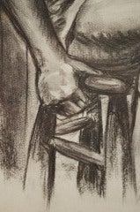 Charcoal Academic Study of  Male Nude image 6