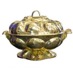 """Large Oval Silver Plated """"Coquera""""  Tureen"""