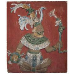 Mayan God - Fresco