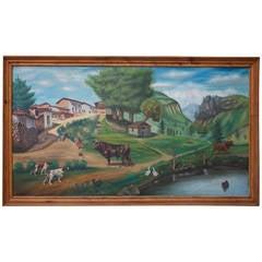 Naïve/Primitive Landscape Painting