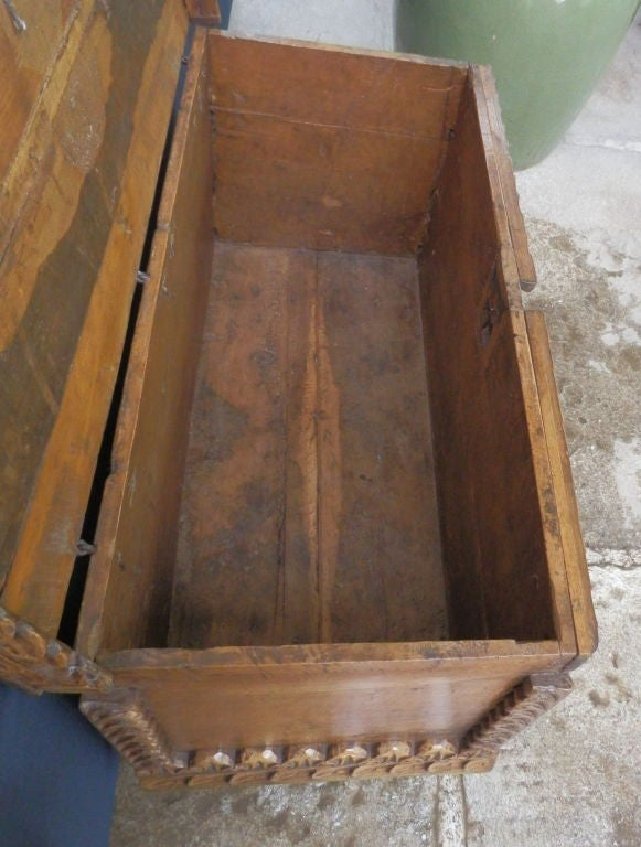 18th Century and Earlier 18th C. Spanish Colonial Trunk For Sale