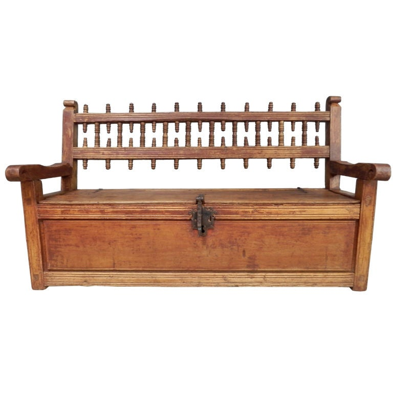 Spanish Colonial Sabino Trunk Bench At 1stdibs