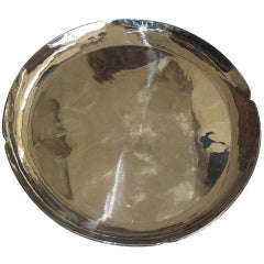 Large Round Silver Tray