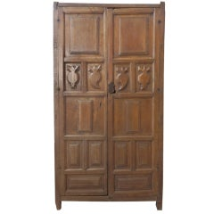 18th C Spanish Colonial Armoire With Secret Compartment