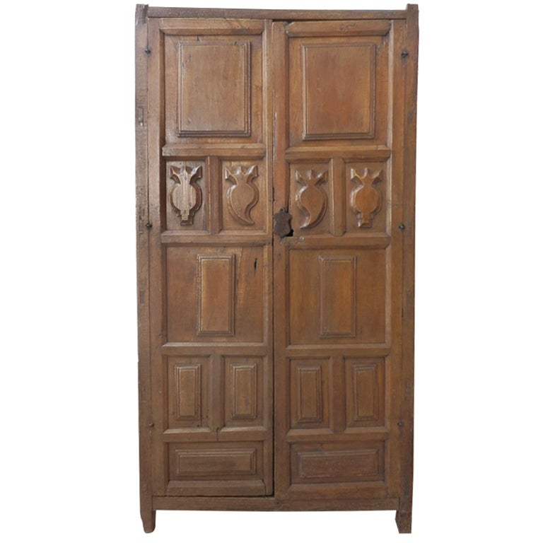 18th c spanish colonial armoire with secret compartment. Black Bedroom Furniture Sets. Home Design Ideas