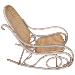 Thonet Bentwood And Caned Rocking Chair