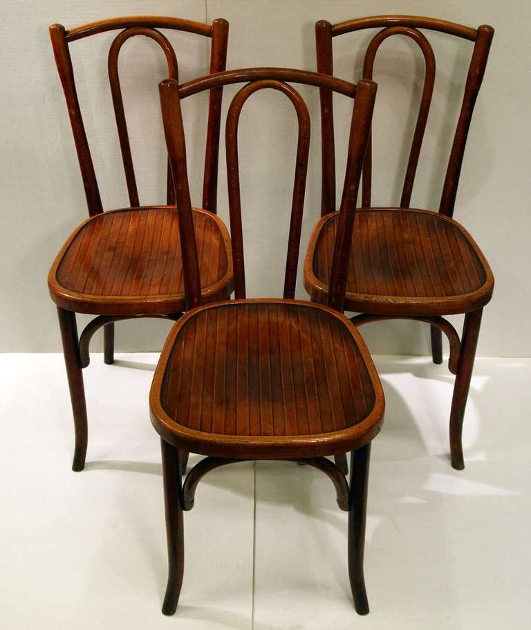 set of 10 french bistro chairs by fischel 2