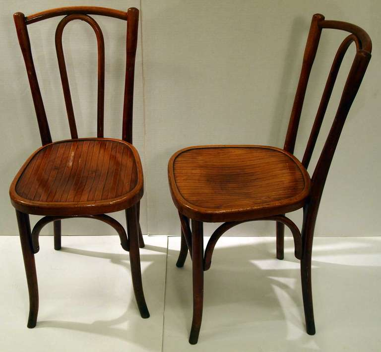 Set Of 10 French Bistro Chairs By Fischel 3