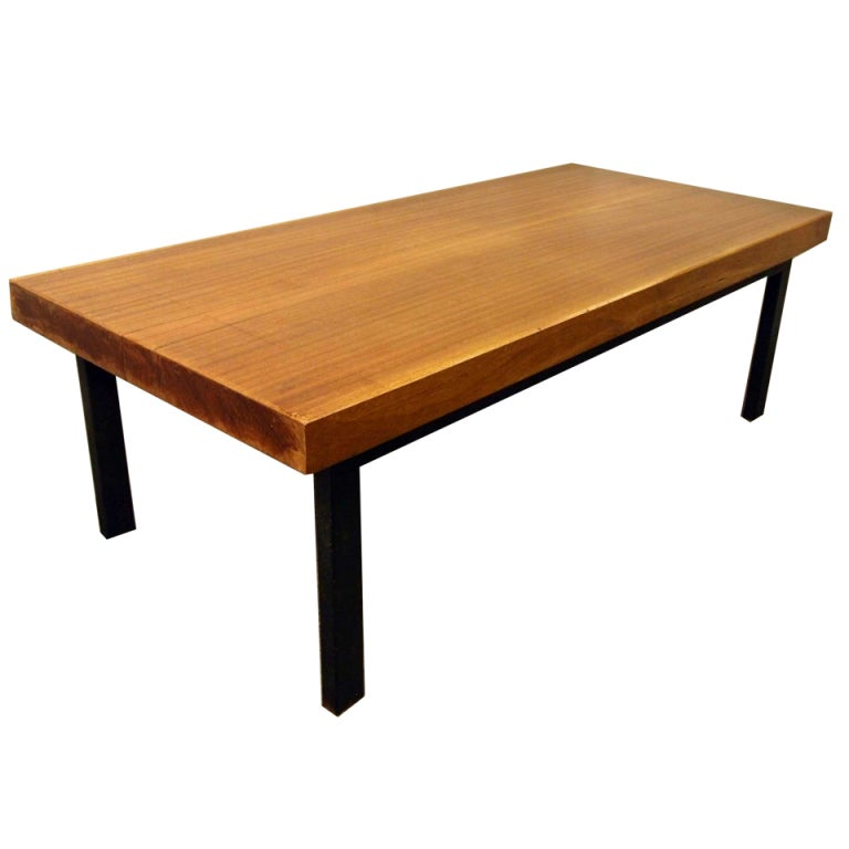 French Mid Century Industrial Coffee Cocktail Table For Sale At 1stdibs