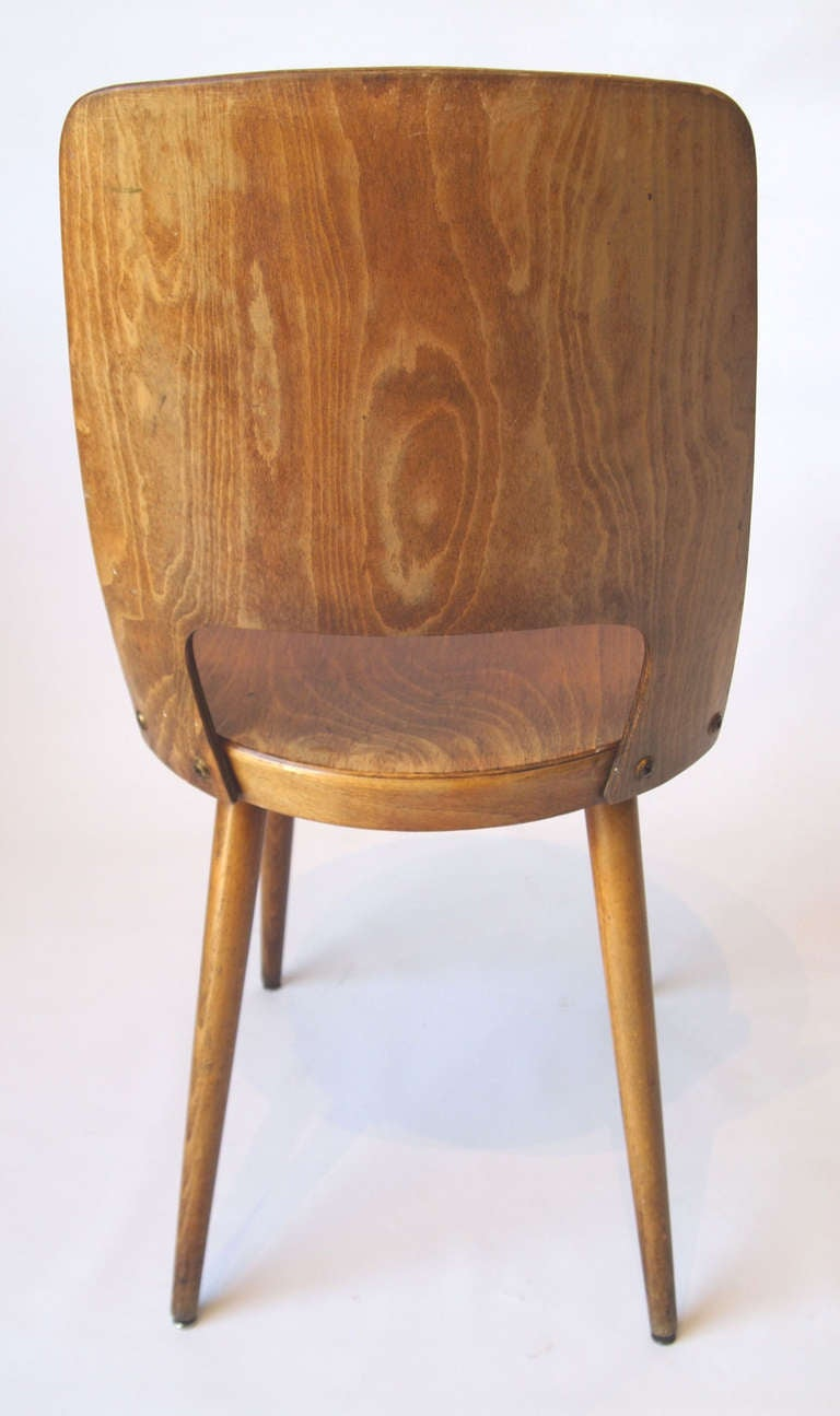 Set of 4 mid century baumann bistro chairs at 1stdibs for Mid century bistro table