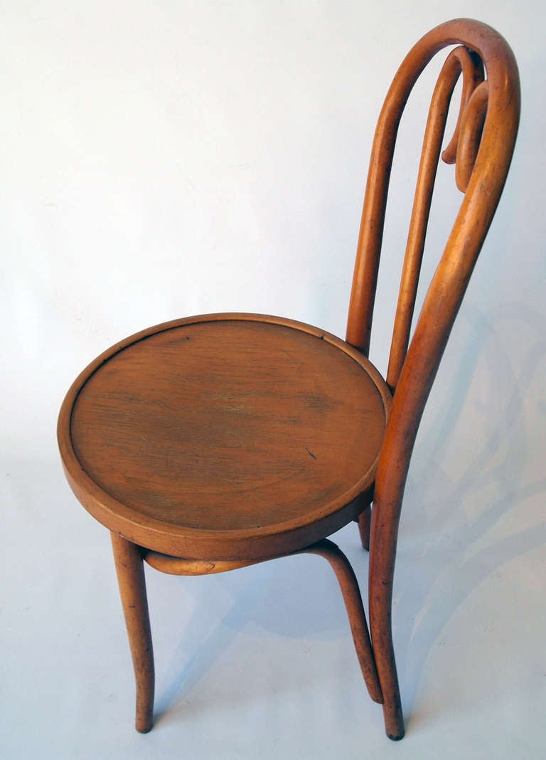 Set Of 4 French Bentwood Bistro Chairs At 1stdibs