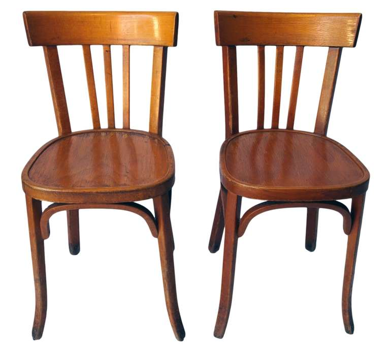 set of 35 french wooden bistro chairs at 1stdibs