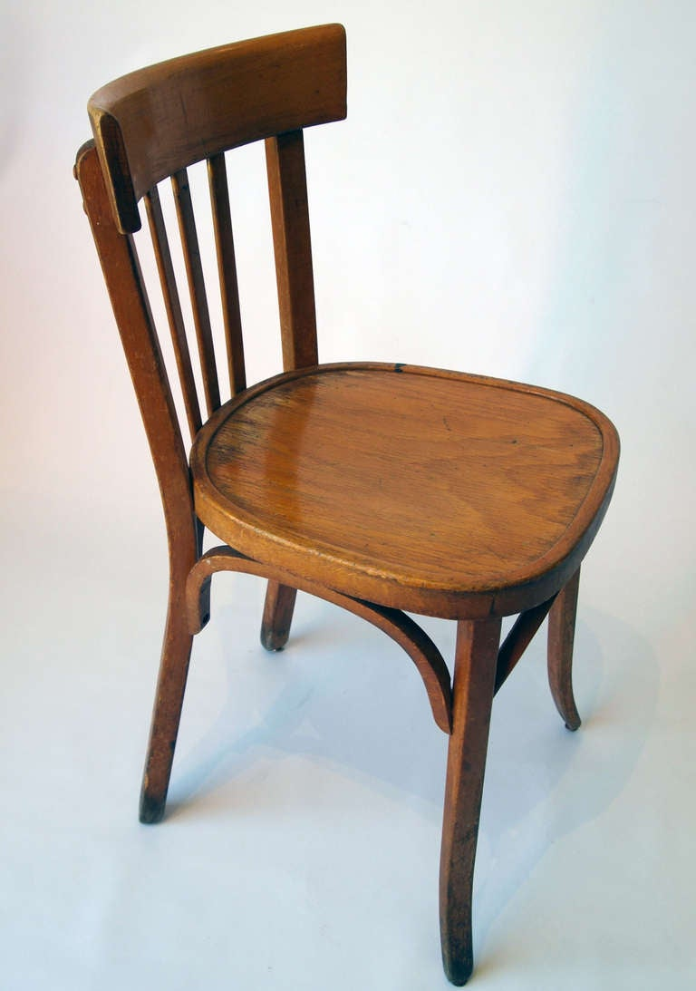set of 35 french wooden bistro chairs 3
