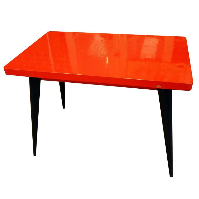 Bistro table tolix at 1stdibs for Table exterieur tolix