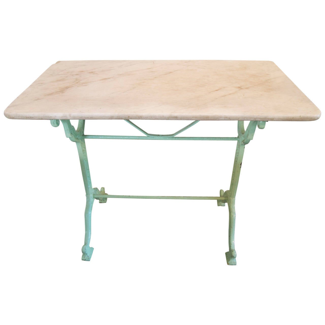 French Marble Top Bistro Table At 1stdibs