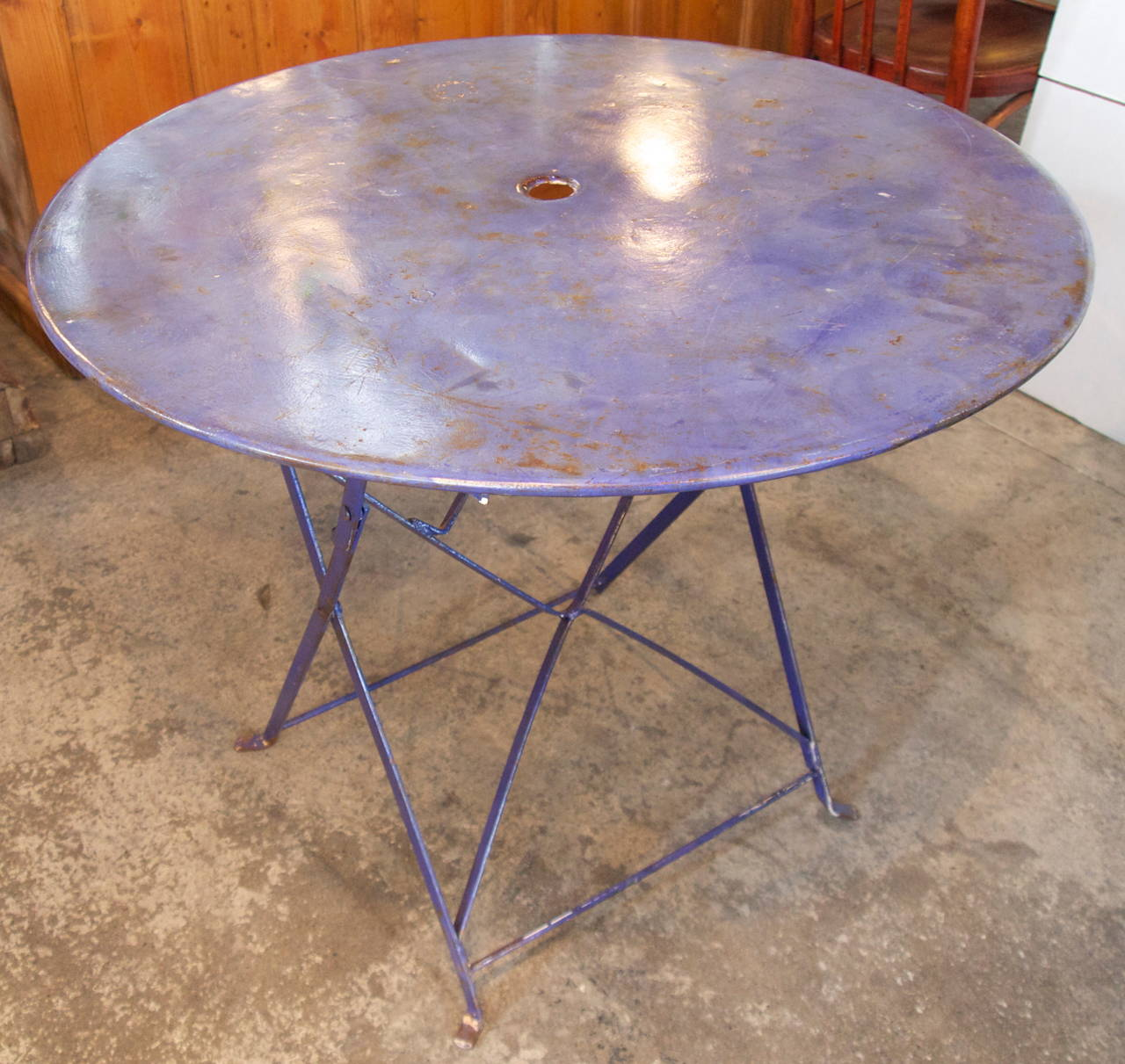 French folding metal garden table at 1stdibs French metal garden furniture