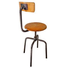 French Industrial School Chair