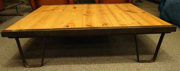 Industrial 'Railroad Pallet' Coffee Table 10