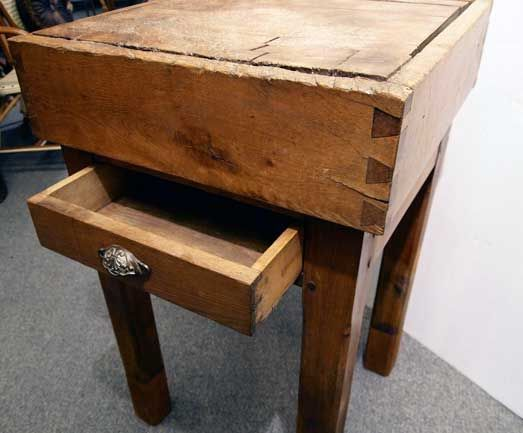 small butcher block at 1stdibs