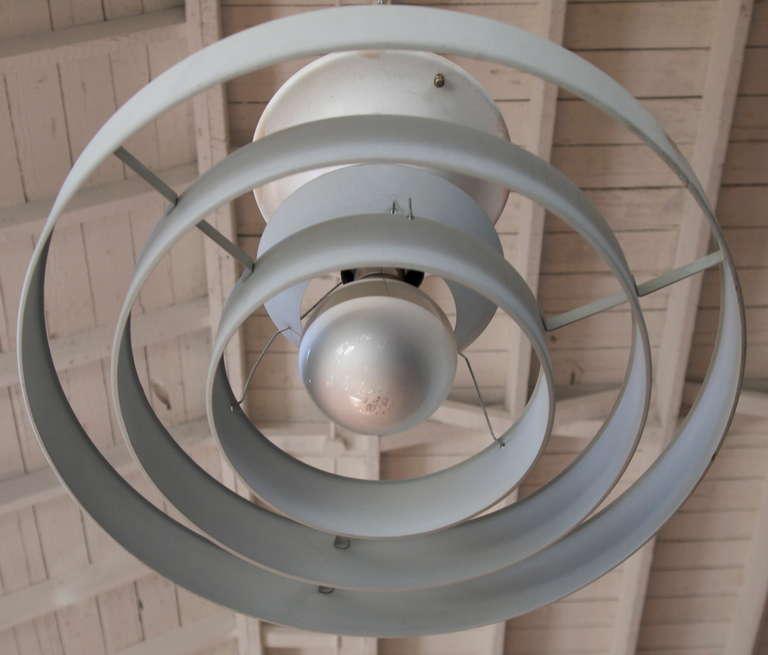 Mid Century Three Ring Industrial Ceiling Light At 1stdibs