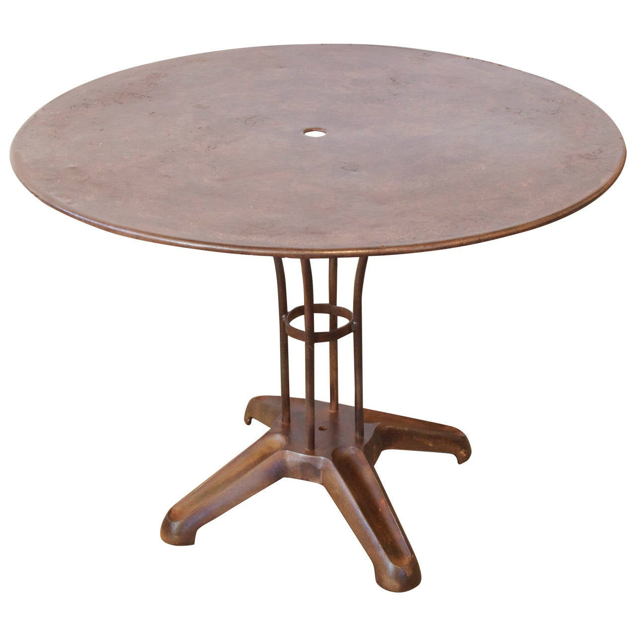 French industrial metal garden table at 1stdibs French metal garden furniture