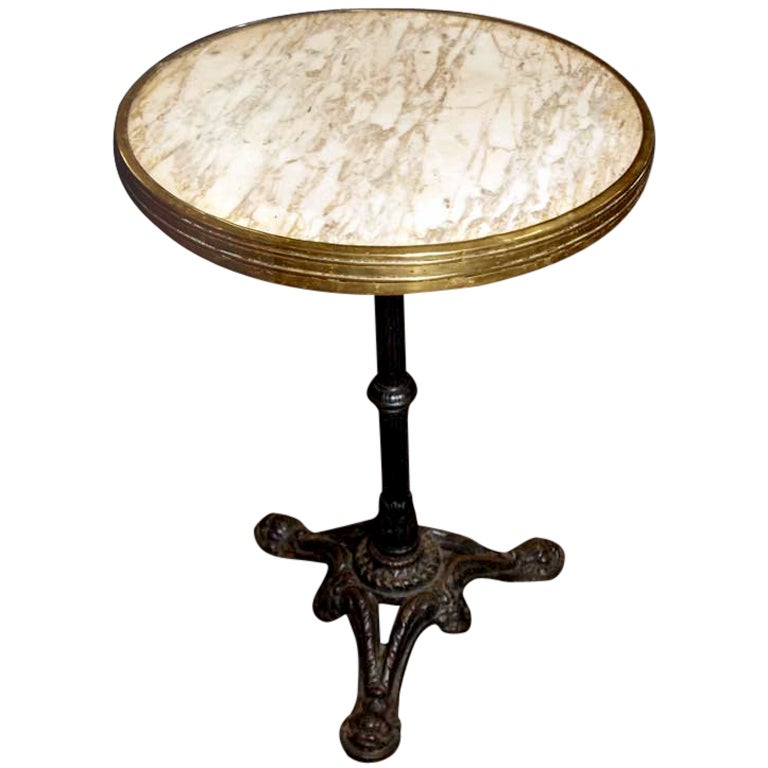 French Marble Gueridon Bistro Table At 1stdibs