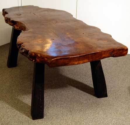 Unique Burl Wood Wine Tasting/coffee Table & 6 Matching Stools For Sale 4