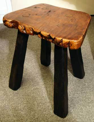 20th Century Unique Burl Wood Wine Tasting/coffee Table & 6 Matching Stools For Sale