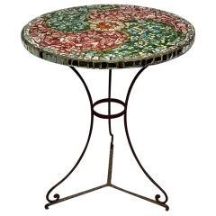 Mosaic porcelain Top  Garden/Bistro  Gueridon Table