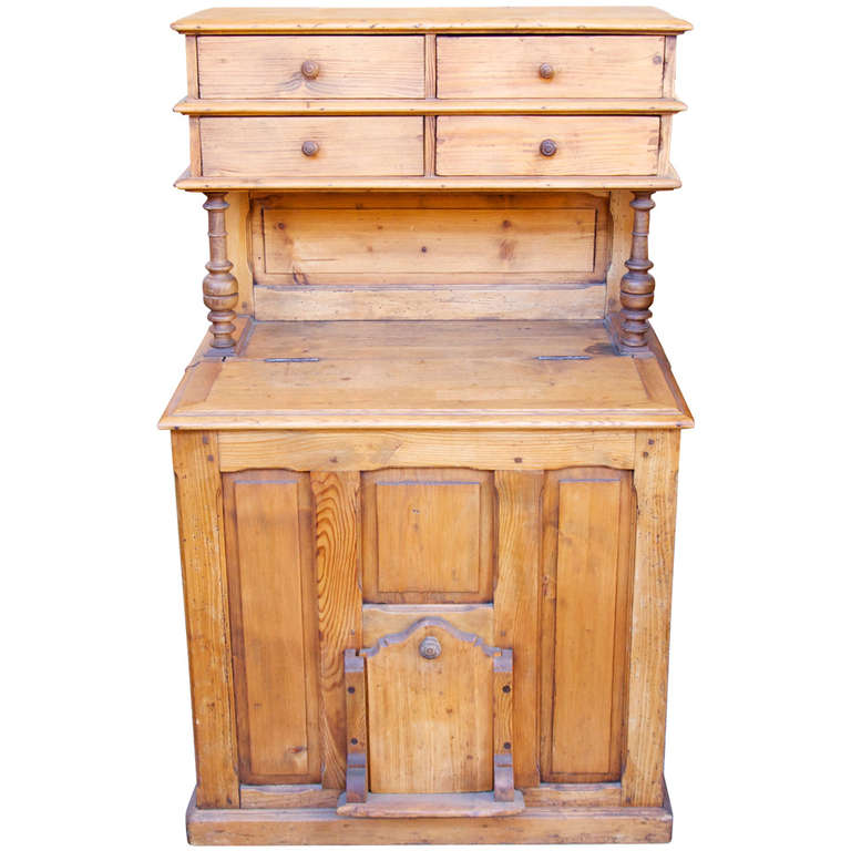 French Kitchen Or Pantry Coal And Wood Cabinet For Sale At 1stdibs
