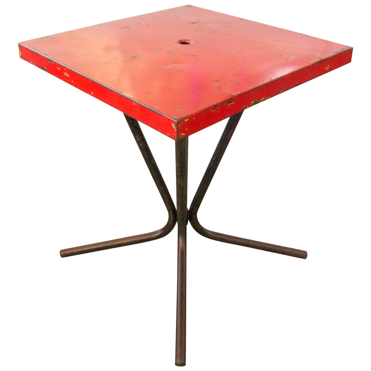 French mid century metal bistro table at 1stdibs for Mid century bistro table