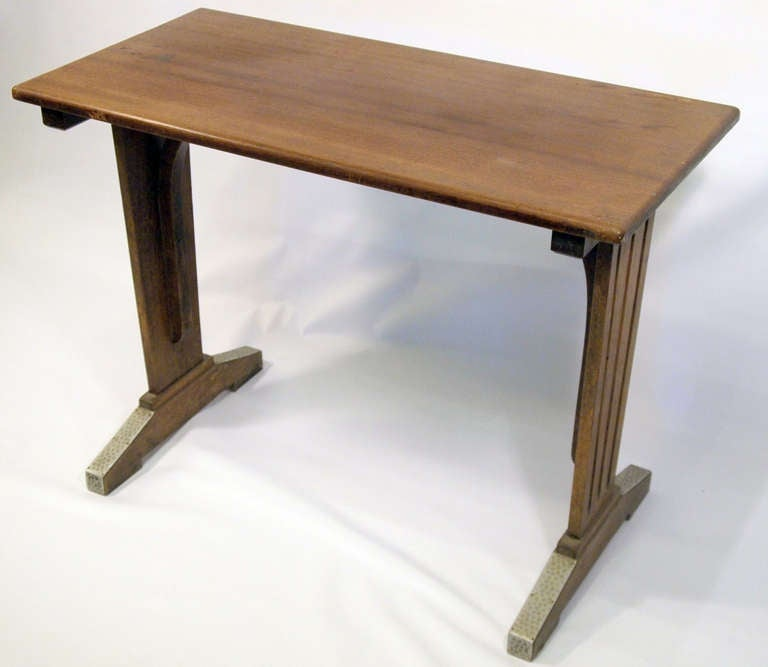 French Art Deco Wood Bistro Table At 1stdibs