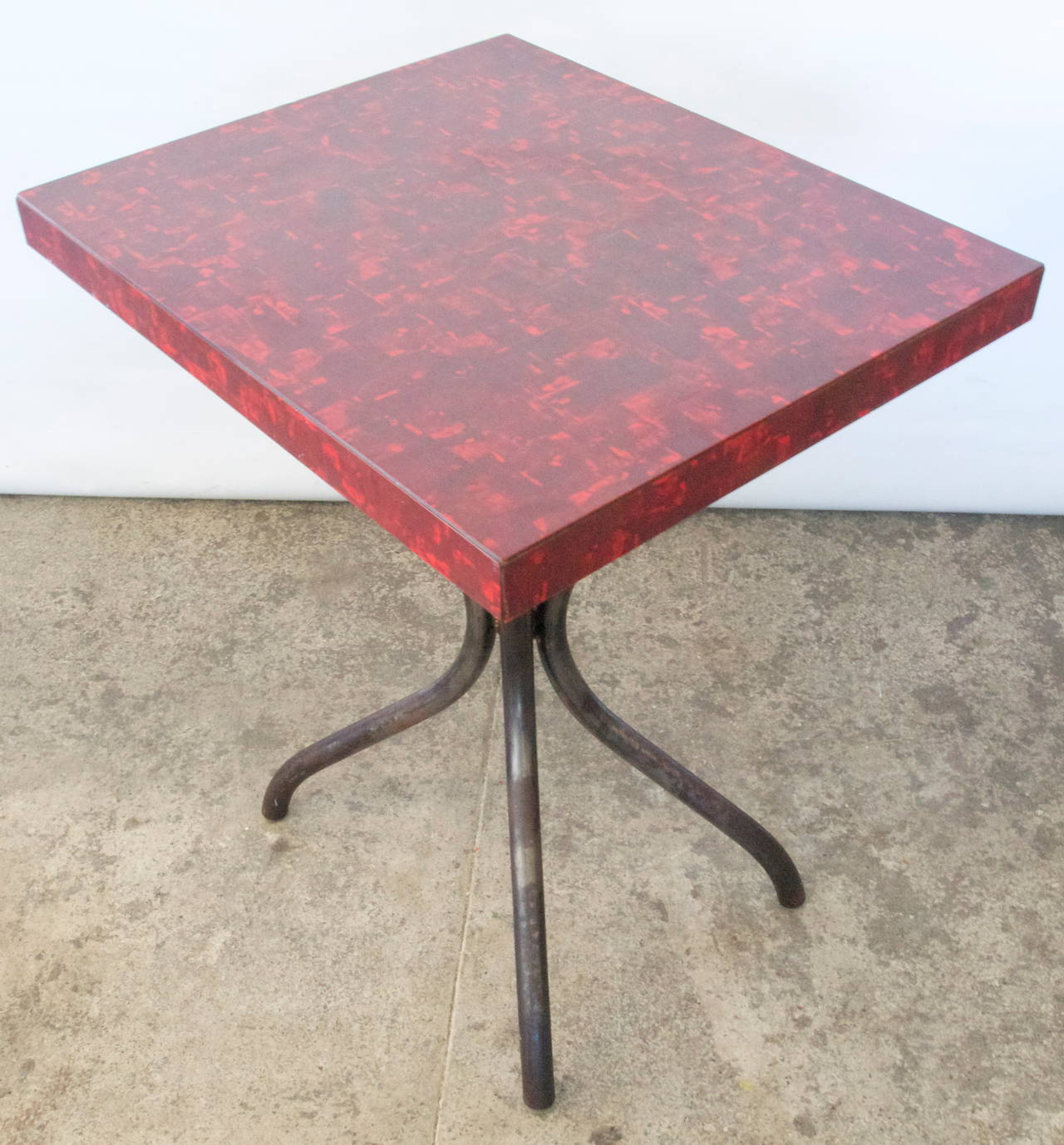 Mid century formica top table at 1stdibs for Table formica