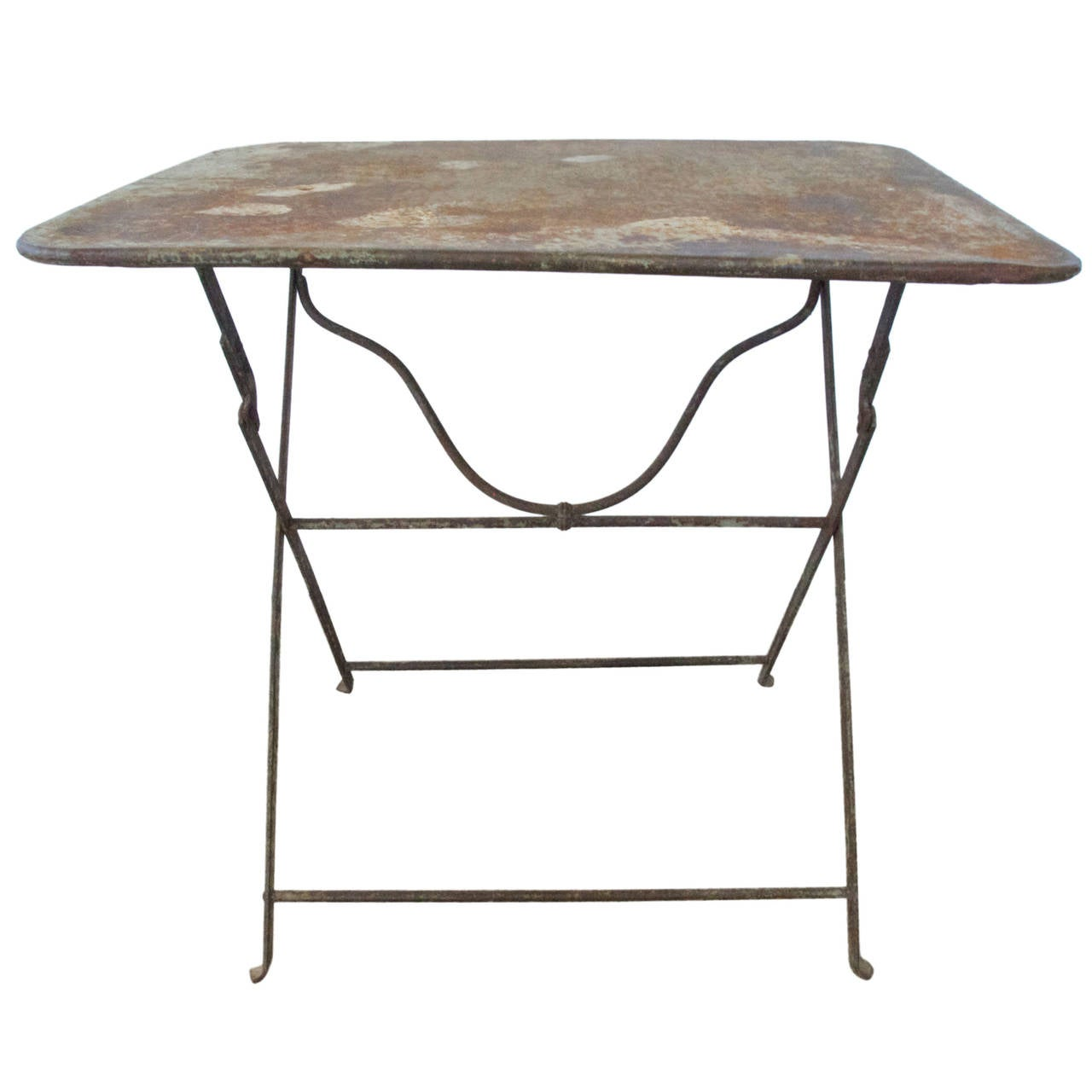 French Folding Metal Garden Table 1