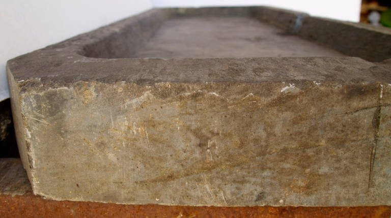 French Stone Sink : 19th Century, French Slate Stone Sink at 1stdibs