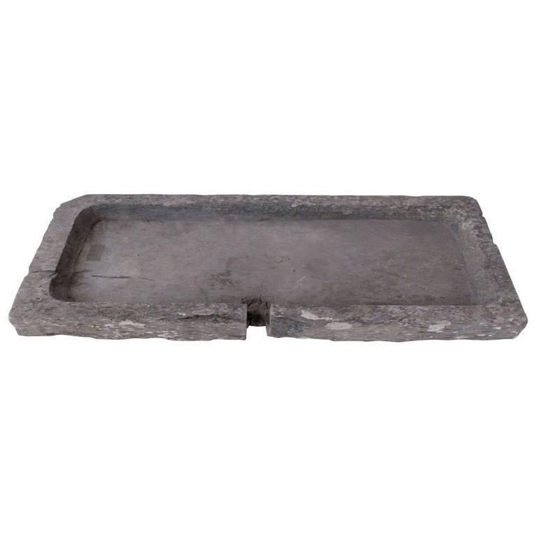 French Stone Sink : This 19th Century, French Slate Stone Sink is no longer available.