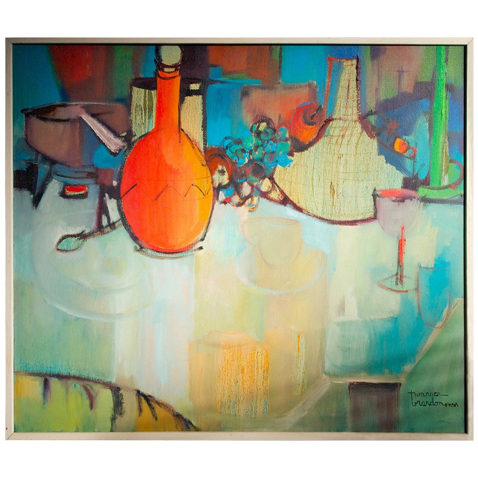 Mid Century Still Life Painting For Sale At 1stdibs