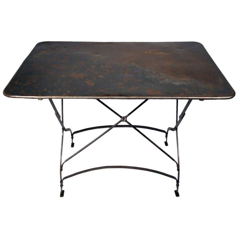 French Mid Century Metal Folding Table at 1stdibs