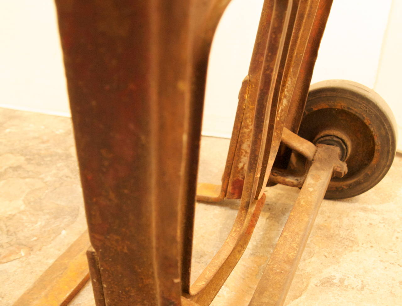 Mid century industrial hand truck at 1stdibs for Furniture hand truck