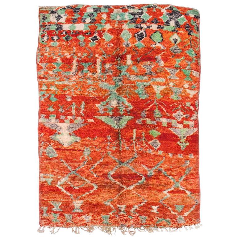 Vintage Moroccan Area Rug For Sale At 1stdibs: Moroccan Vintage Rug For Sale At 1stdibs