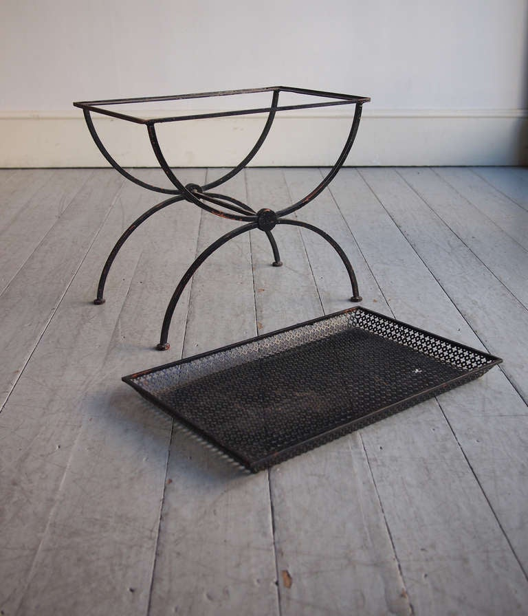 Pair Of Pierced Sheet Metal Side Tables At 1stdibs