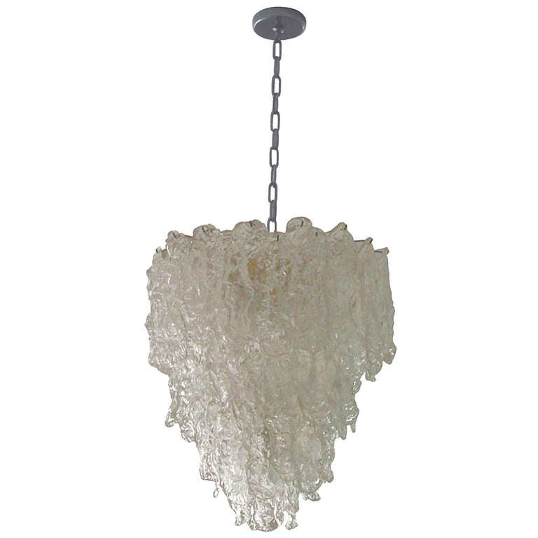 Stunning Murano Glass Chandelier by Carlo Nason for Mazzega