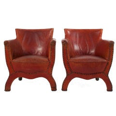 Pair of Club Chairs by Otto Schultz thumbnail 1