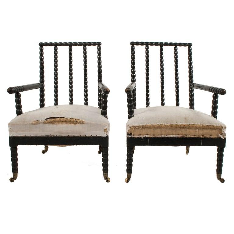 Pair of Bobbin Chairs at 1stdibs