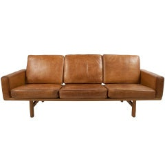 Leather Sofa by Hans Wegner