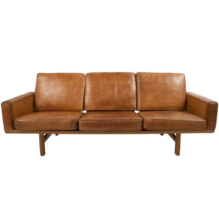 Leather Sofa By Hans Wegner At 1stdibs