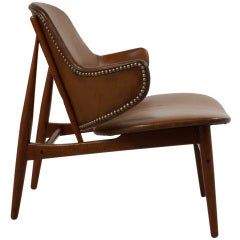 Leather Lounge Chair by Kofoed Larsen