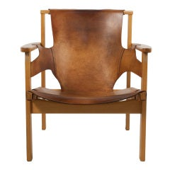 Leather Lounge Chair by Carl Axel Acking