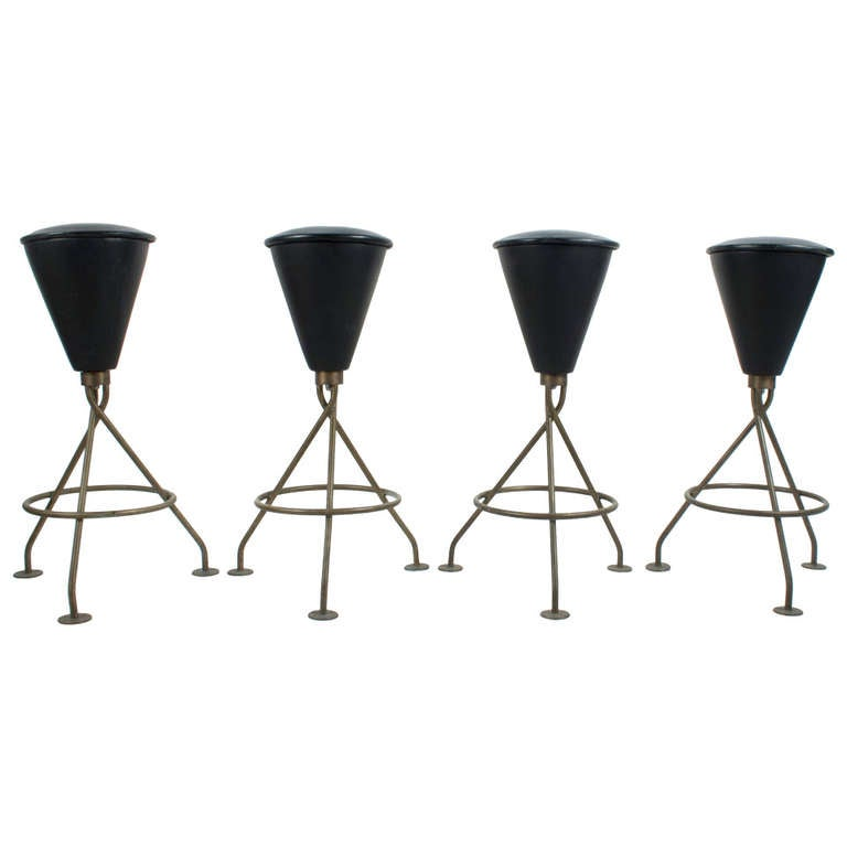 Set Of Four Stools At 1stdibs